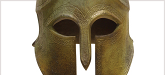 Greek hoplite helmet