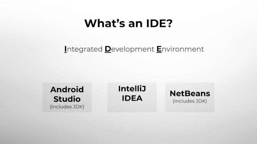 Choose an Integrated Development Environment