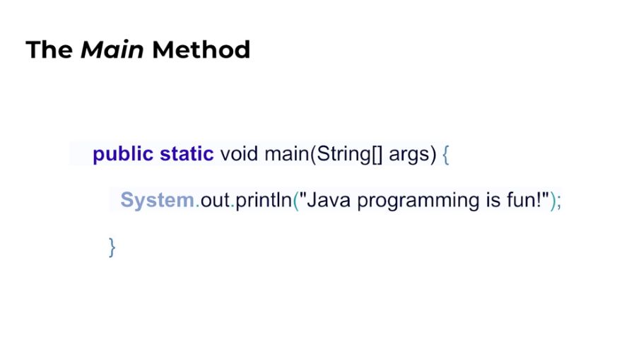 Java Code Structure, Syntax, and main Method