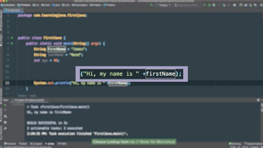 Concatenating Variables in Java