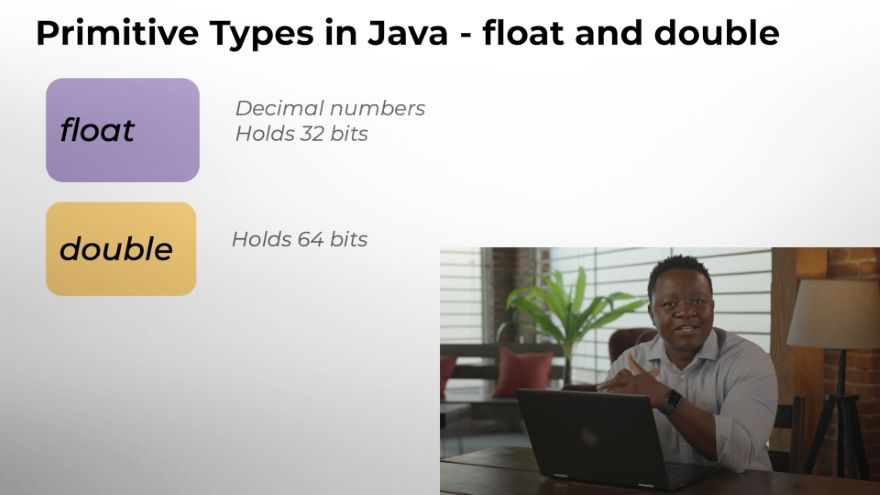 Primitive Variable Types: float and double