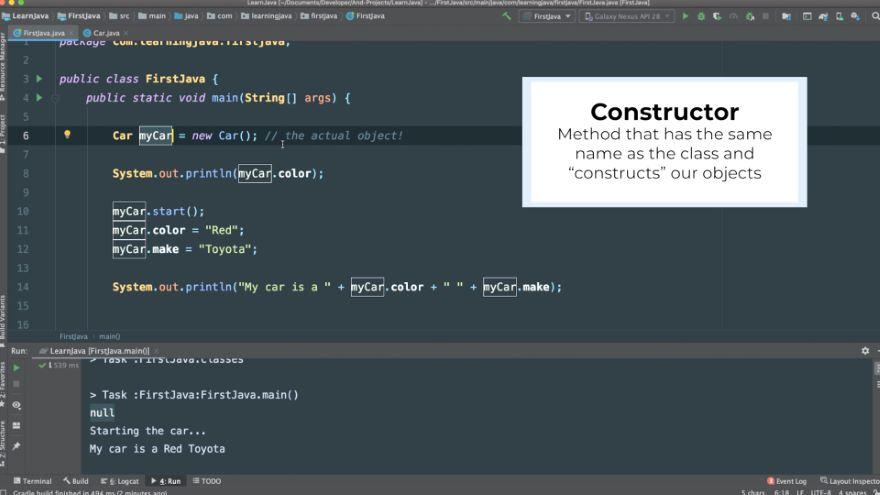 Class Constructors in Java