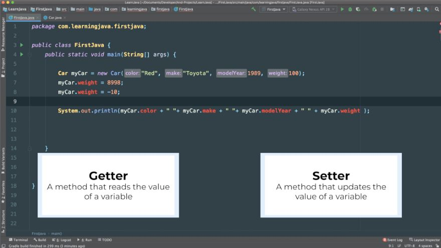 Java Getters and Setters
