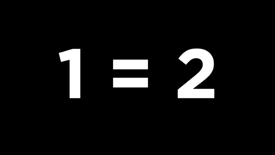 When 1 = 2-False Proofs