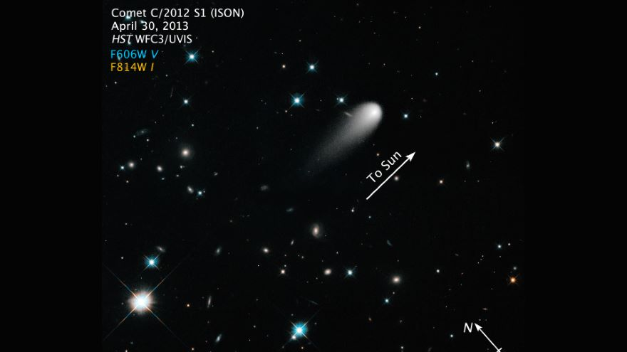 Viewing the Galaxy through a Comet