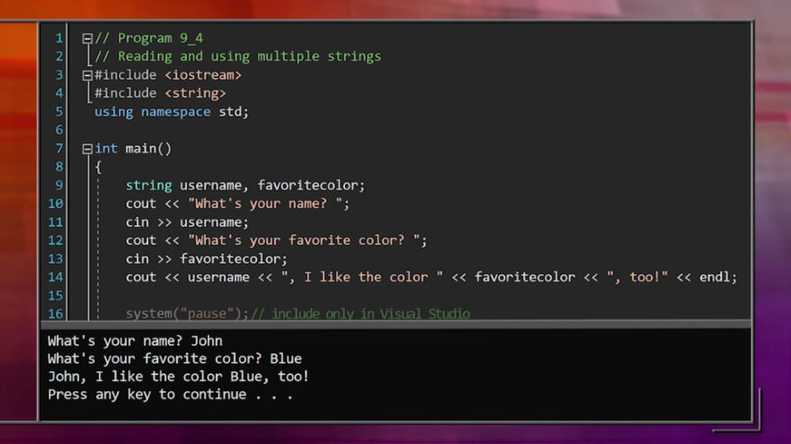 C++ Strings for Manipulating Text