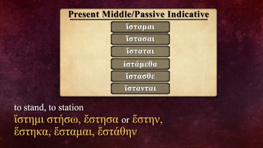 Regular -μι Verbs in the Middle/Passive