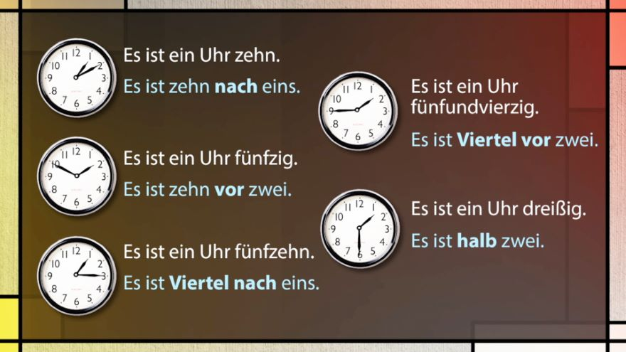 Time in German and Possessive Pronouns