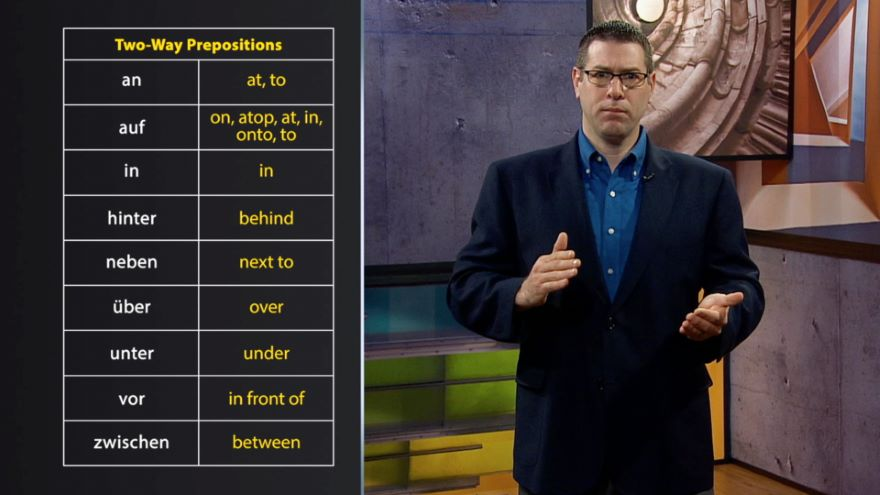 Two-Way Prepositions and Verbs That Use Theme