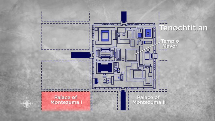 The Palace of Montezuma II at Tenochtitlán