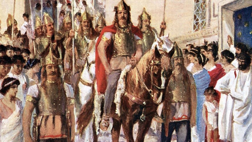 Visigoth King Alaric Descends on Rome