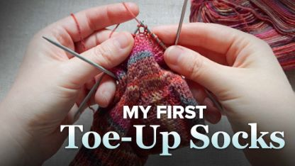 My First Toe-Up Socks