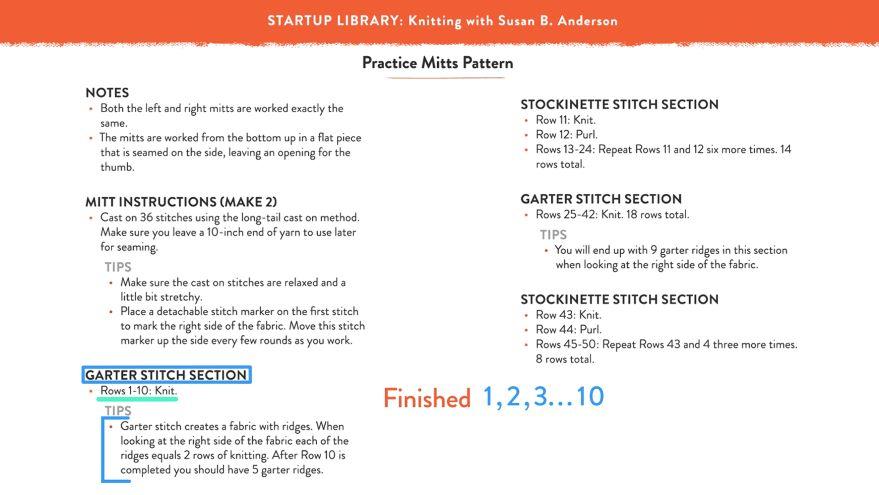 Module 1 - Lesson 11: Reading a Pattern