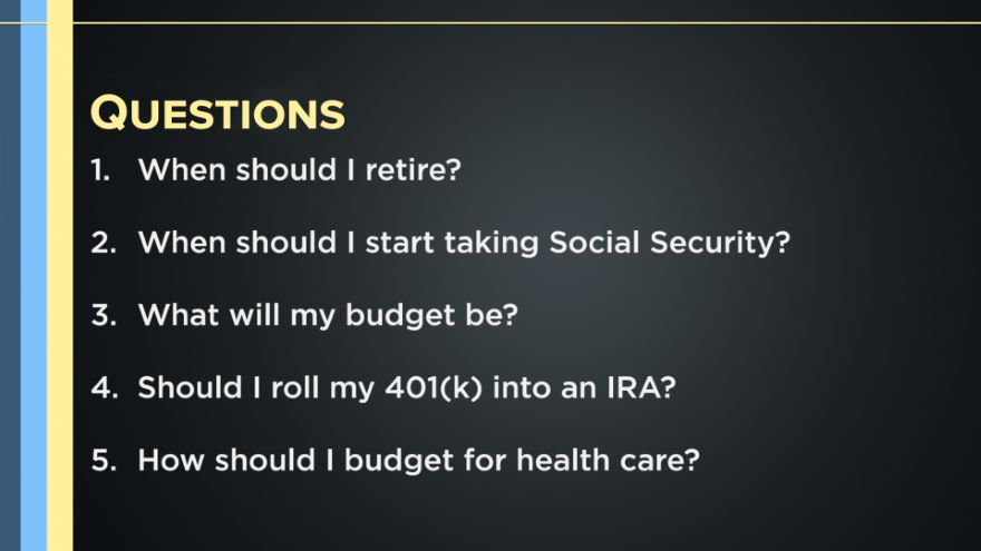 10 Questions to Answer Before You Retire