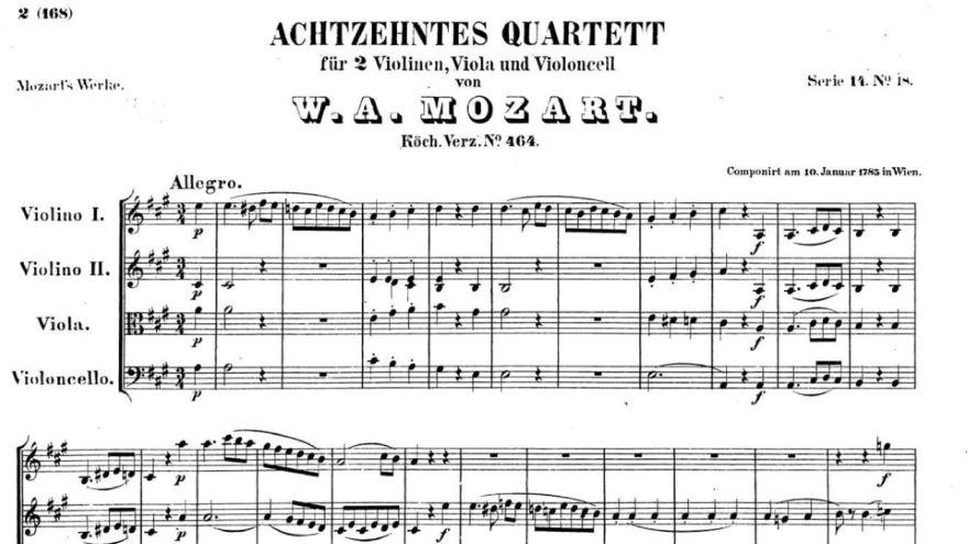 String Quartet in A Major, K. 464