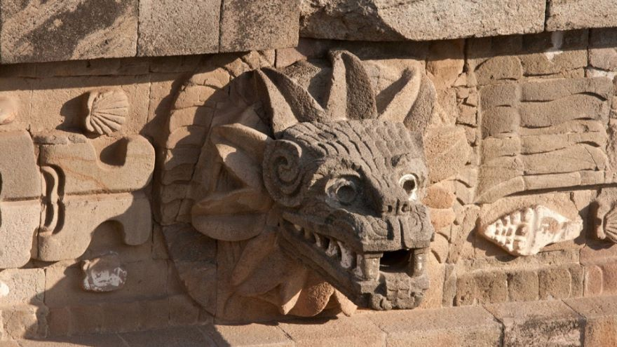 Teotihuacan-Temple of the Feathered Serpent