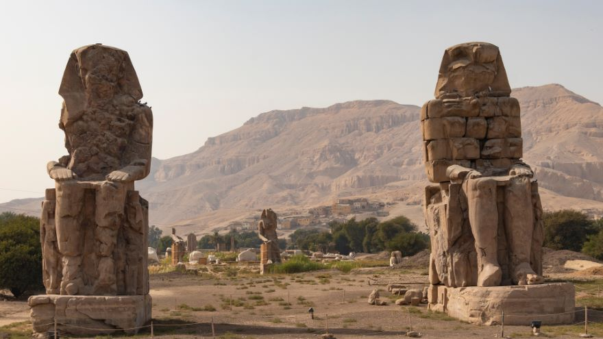 The Colossi of Memnon and Hatshepsut's Temple