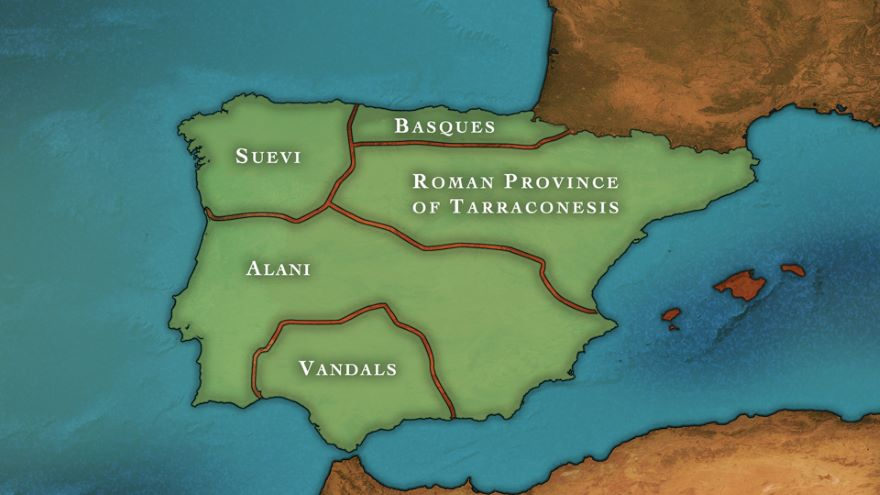 Barbarian Tribes Divide the Peninsula