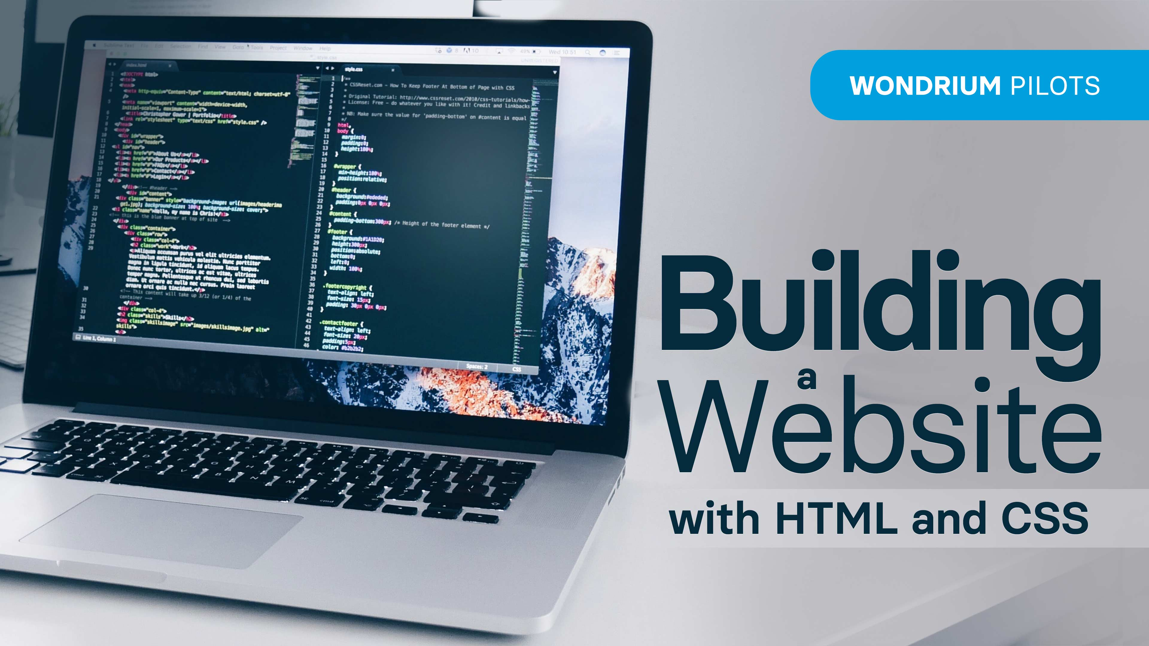 Building a Website with HTML and CSS